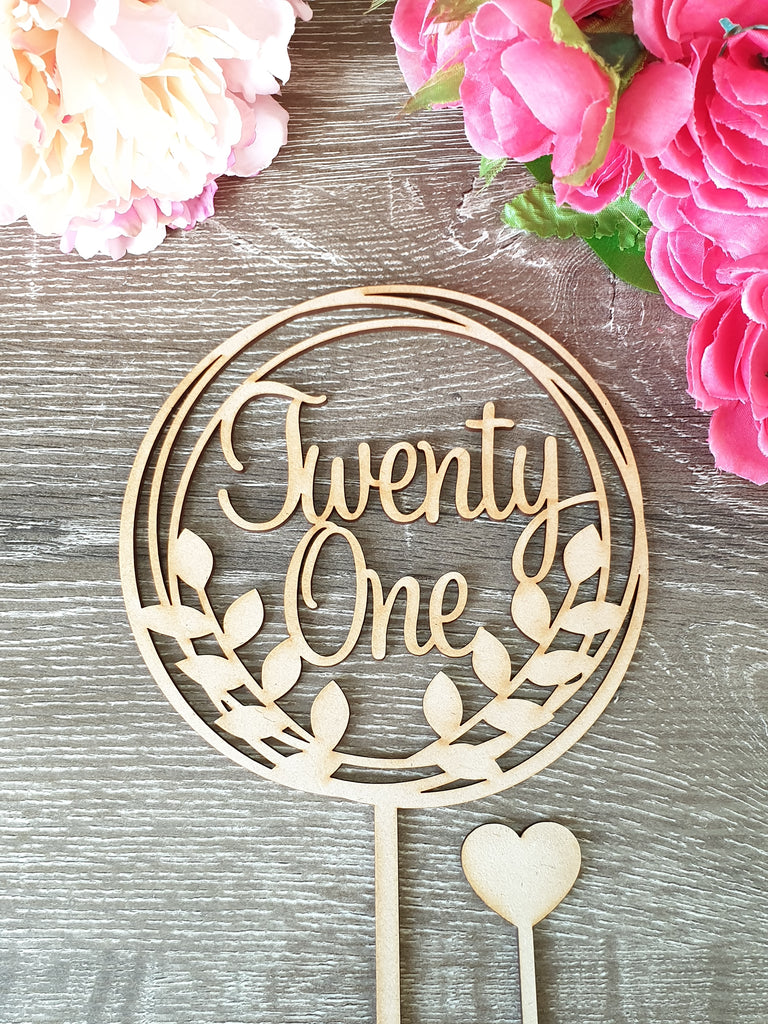 21 Twenty One Cake Topper