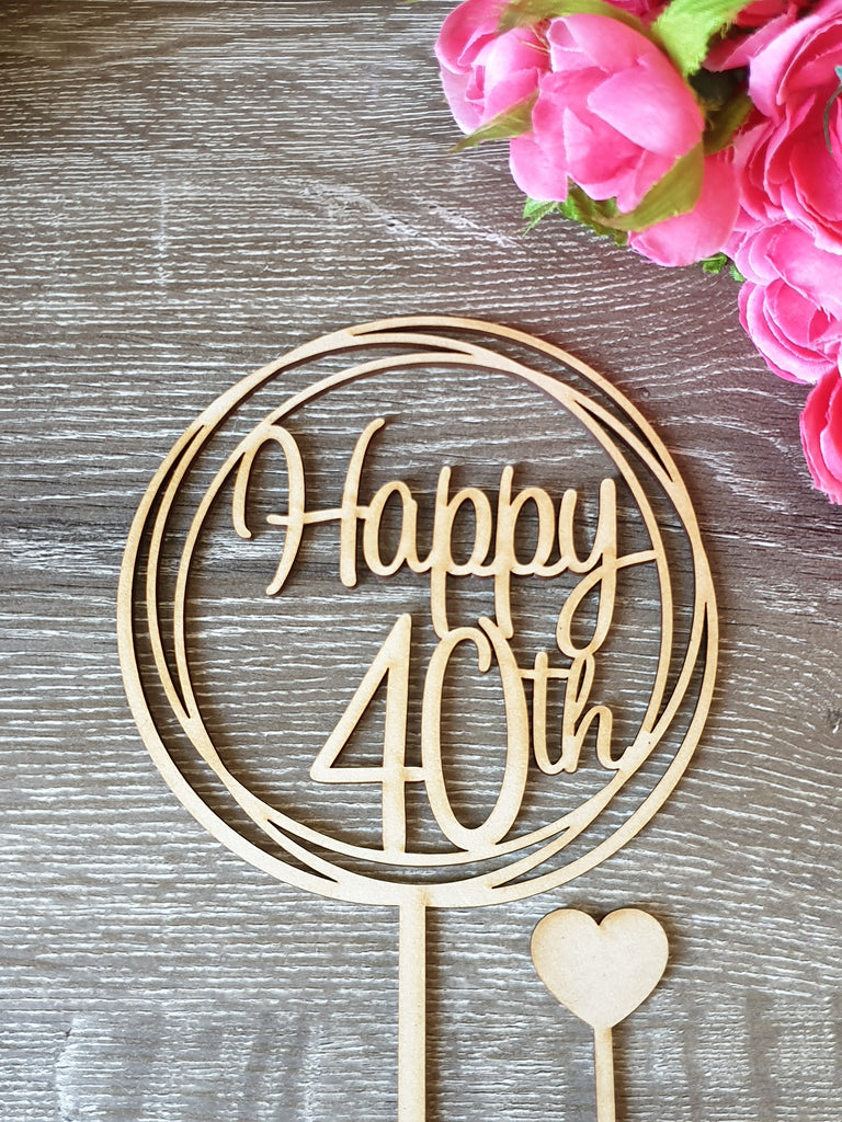 40 Happy 40th Cake Topper