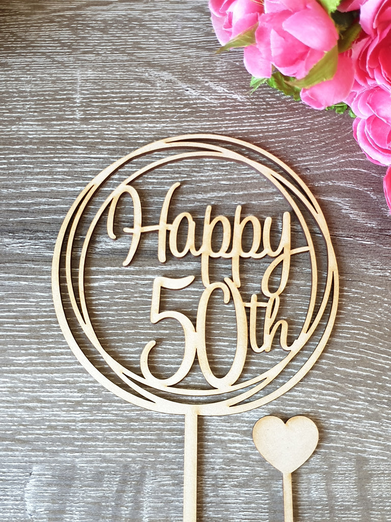 50 Happy 50th Cake Topper
