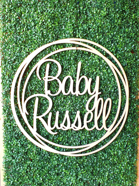 Baby Name Wall Hoop Sign Rings