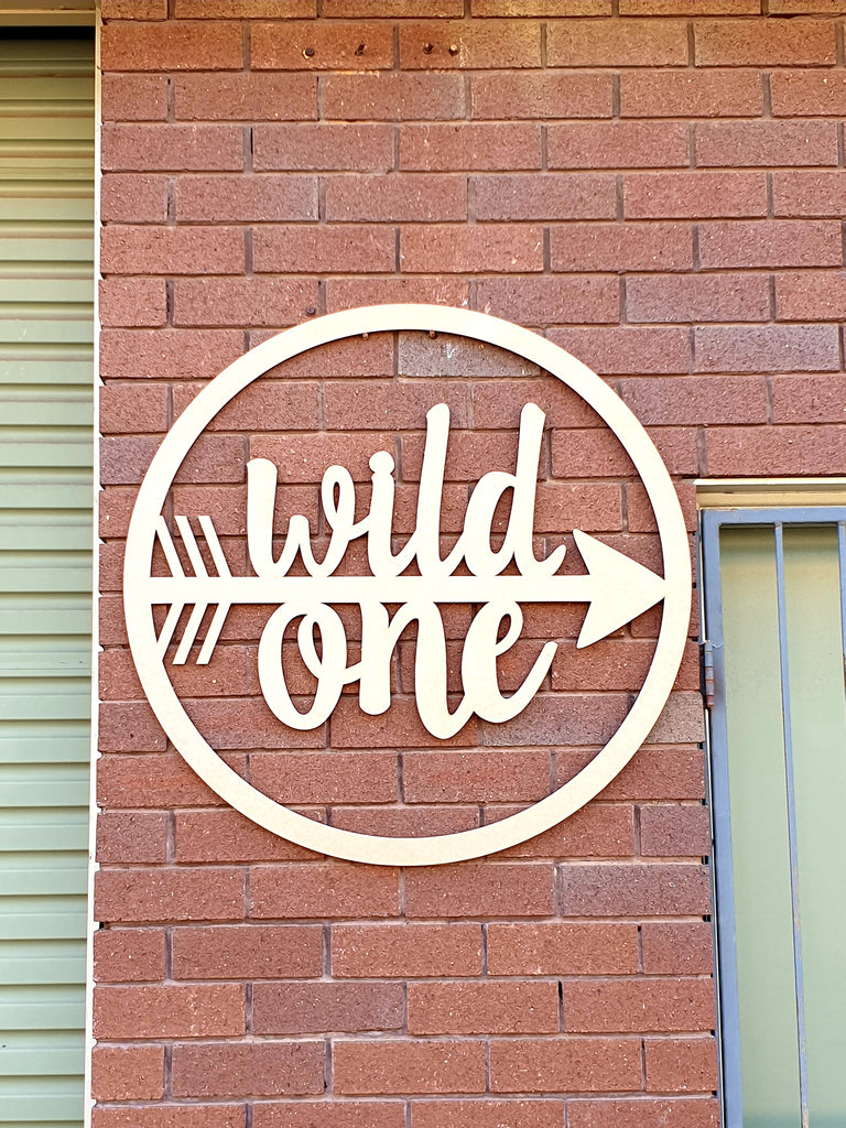 Wild One Arrow Hoop Sign