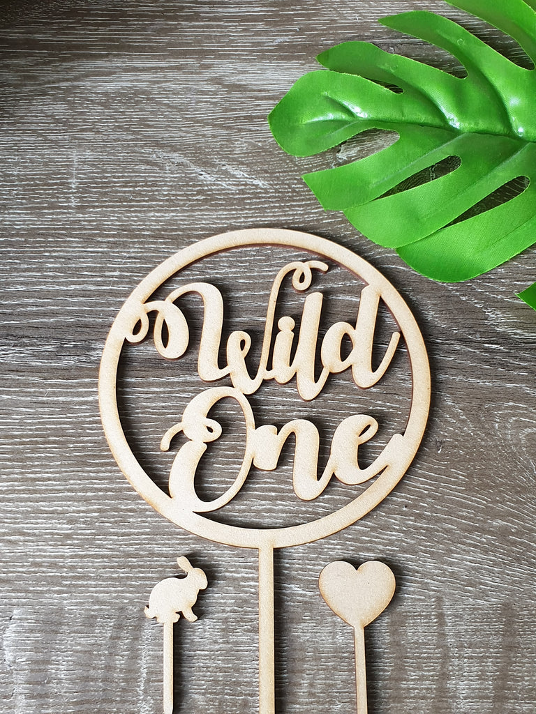 1 Wild One Circle Cake Topper