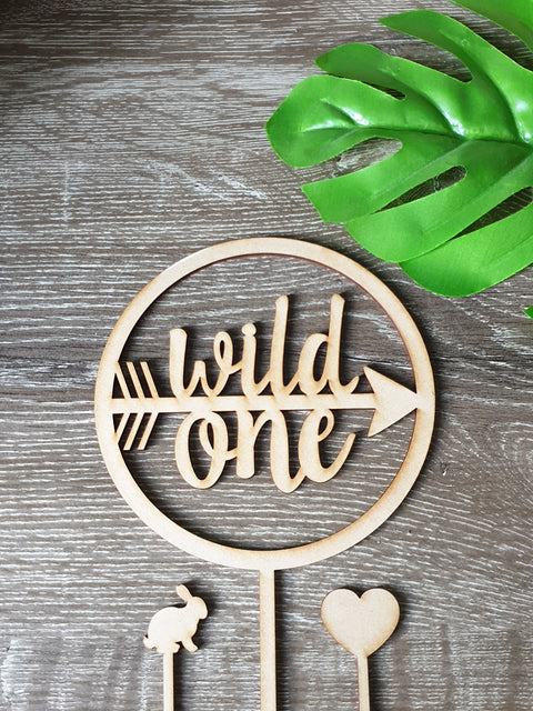 1 Wild One Arrow Cake Topper