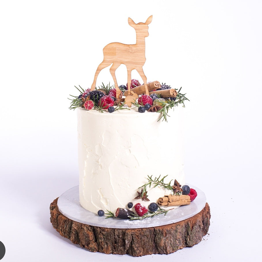 Bamboo Deer and bunny cake topper