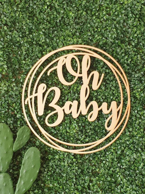 .Oh Baby Wall Hoop Sign