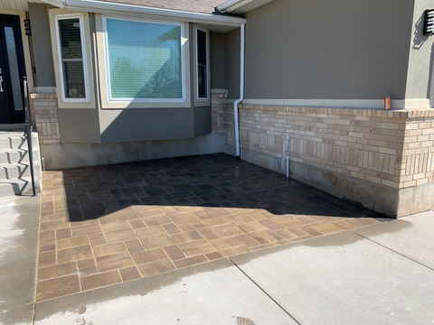 Finished Paver Patio Installation