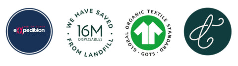 eXXpedition, GOTS, 16million disposables saved from landfill, Make Thread fashion logo