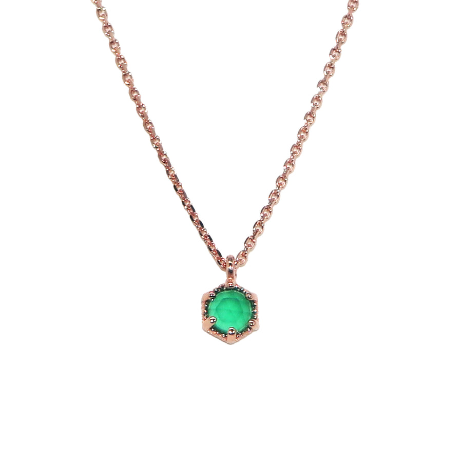 Hexagon Gem Necklace