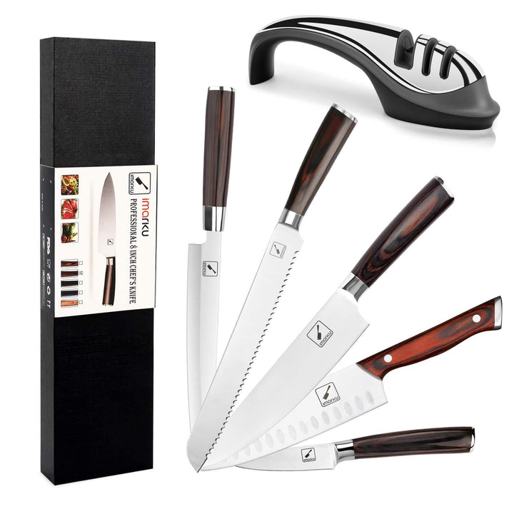 6-Piece Professional Chef Knife Set with Sharpener - iMarku ® is $127 (29% off)