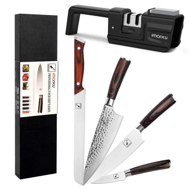 5-Piece Professional Chef Knife Pro Set with Sharpener - iMarku ® is $127 (30% off)