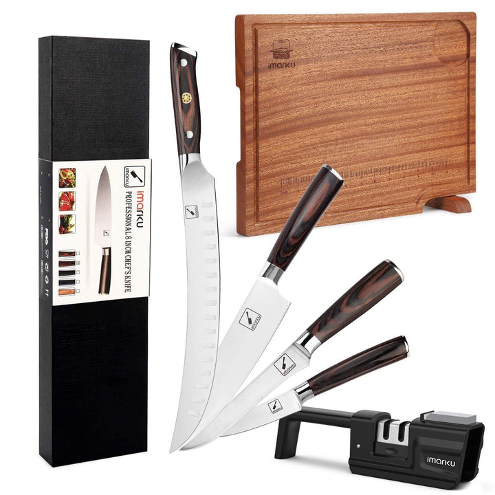 6-Piece Professional Butcher knife Set with Cutting Board - iMarku ® is $127 (36% off)