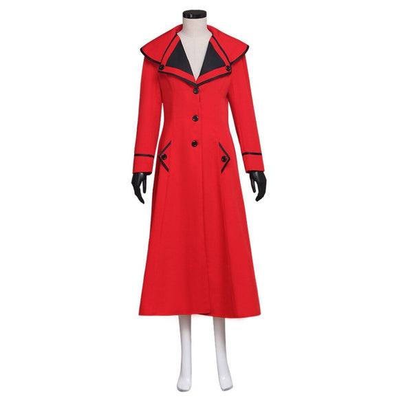 Mary Poppins Cosplay Red Coat