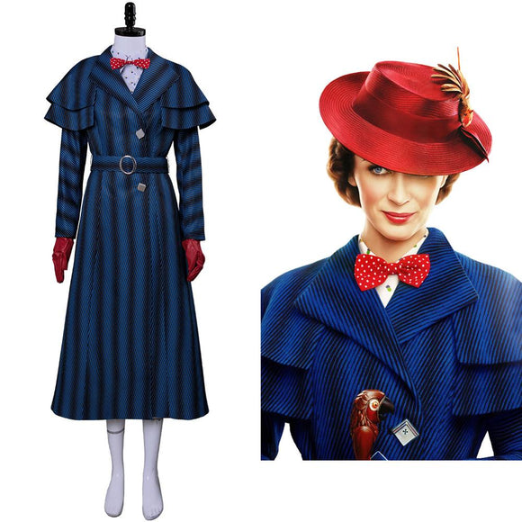 Mary Cosplay Poppins Returns Costume With Hat