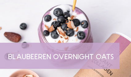 Blaubeeren Overnight Oats