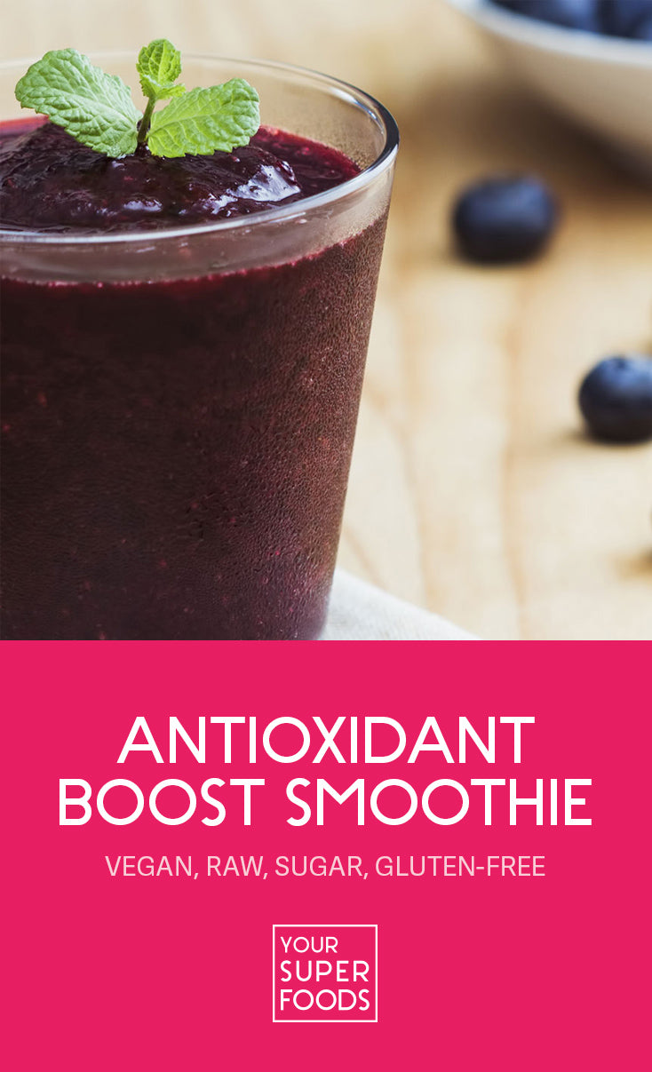 antioxidant boost smoothie energy bomb your superfoods pinterest