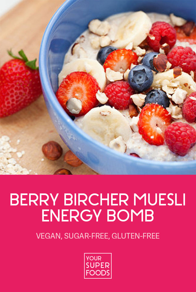berry bircher muesli energy bomb your superfoods pinterest