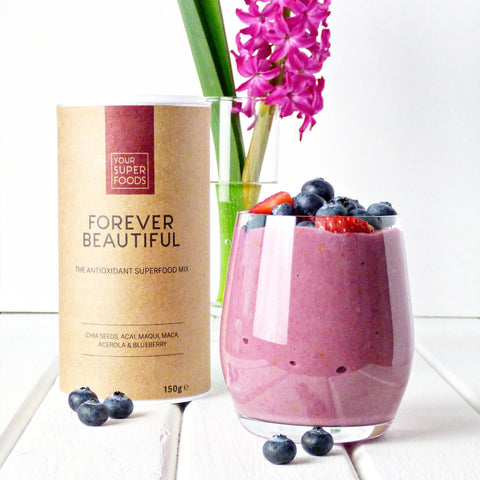 creamy berry oatmeal forever beautiful mix your superfoods