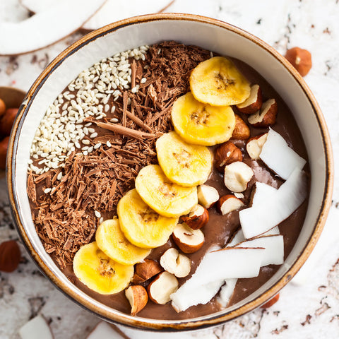 creamy chocolate smoothie bowl chocolate lover muscle power your superfoods