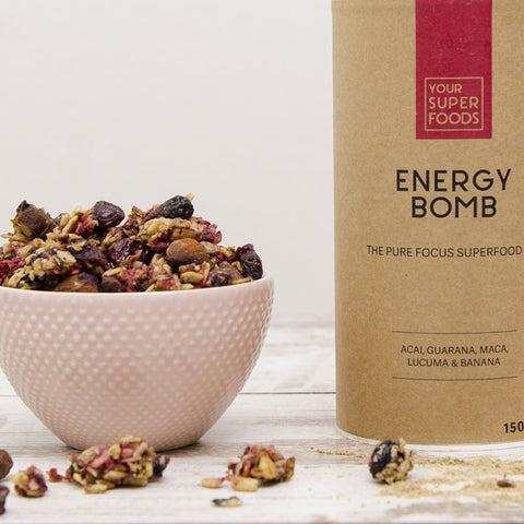 energy bomb granola vegan healthy your superfoods