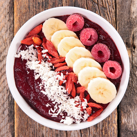 forever beautiful smoothie bowl with toppings your superfoods