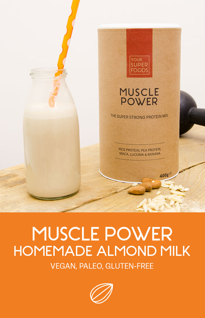 muscle power homemade almond milk