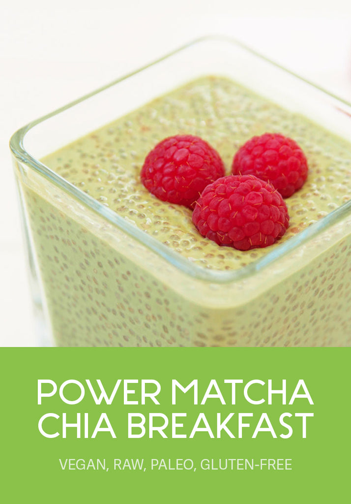 power matcha chia breakfast