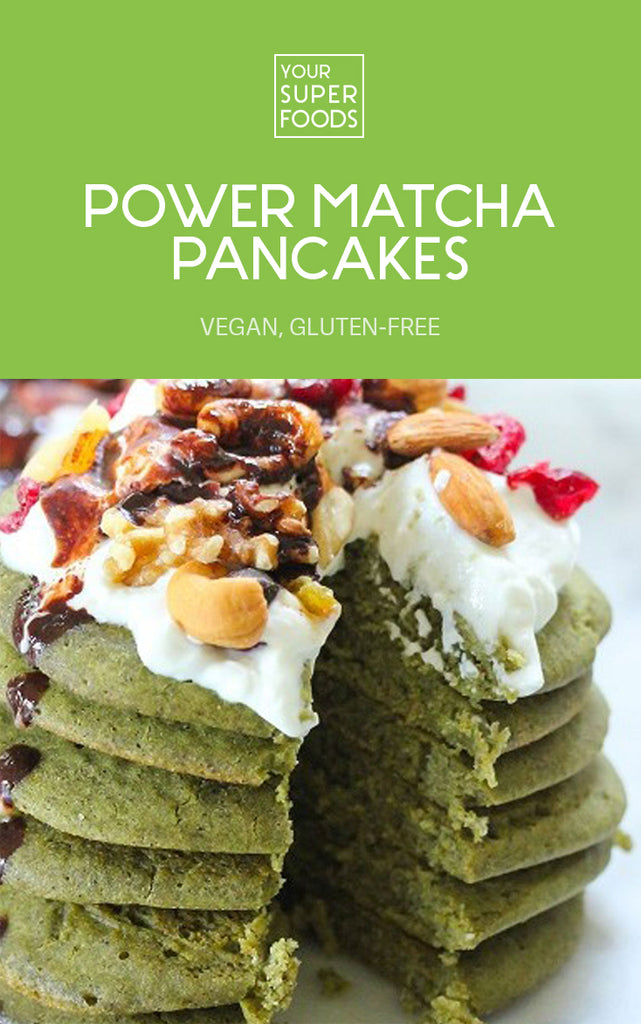 power matcha pancakaes