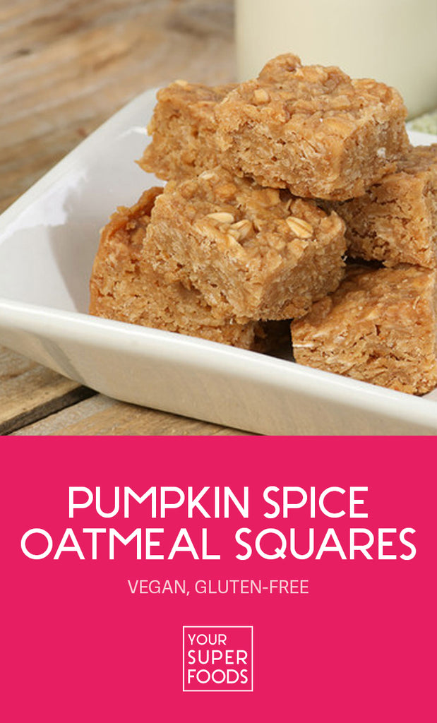pumpkin spice oatmeal squares