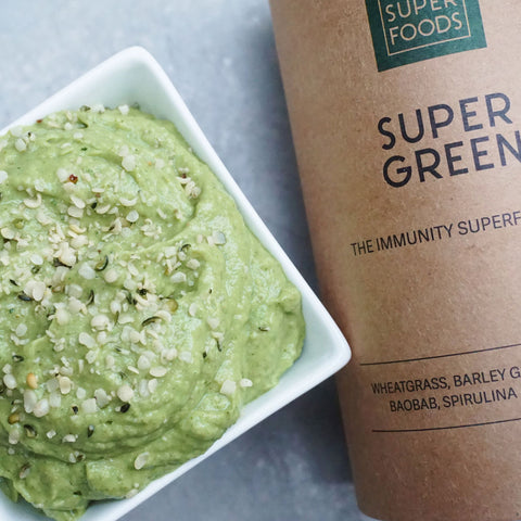 super green hummus vegan your superfoods