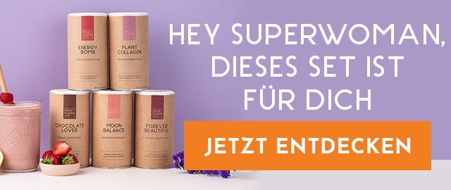 Superwoman Set mit Superfoods