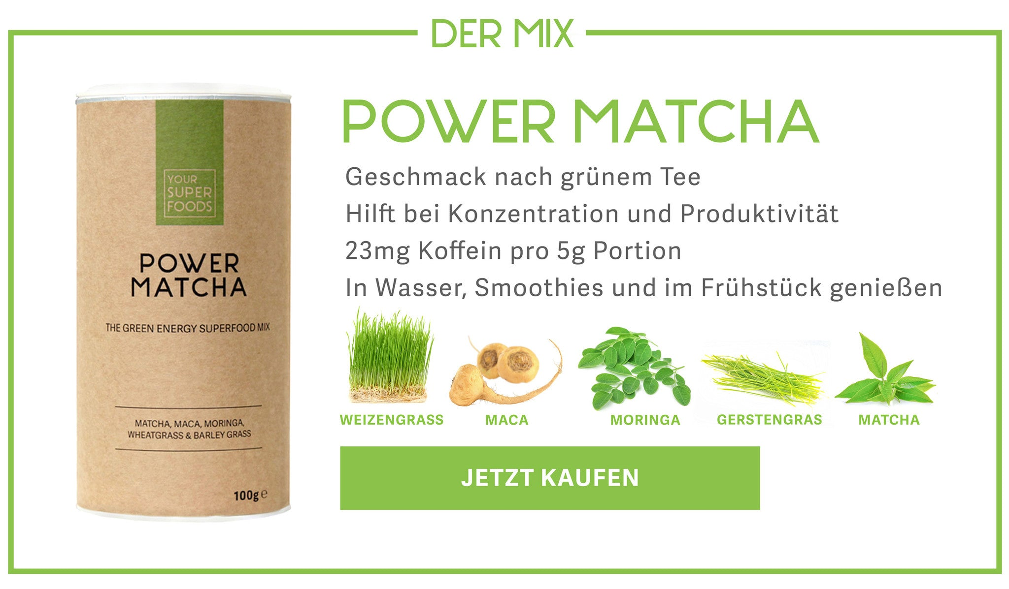 Power Matcha Mix Profil