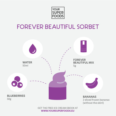 forever beautiful sorbet healthy ice cream your superfoods