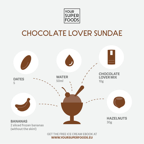chocolate lover sundae healthy ice cream your superfoods