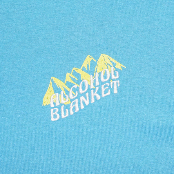Alcohol Blanket Mountains T Shirt Blue