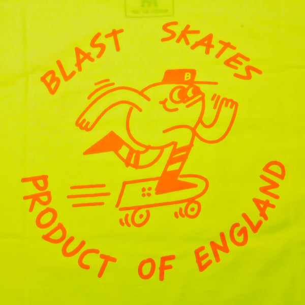 Blast Skates Product Of England Safety Yellow (Back Print)