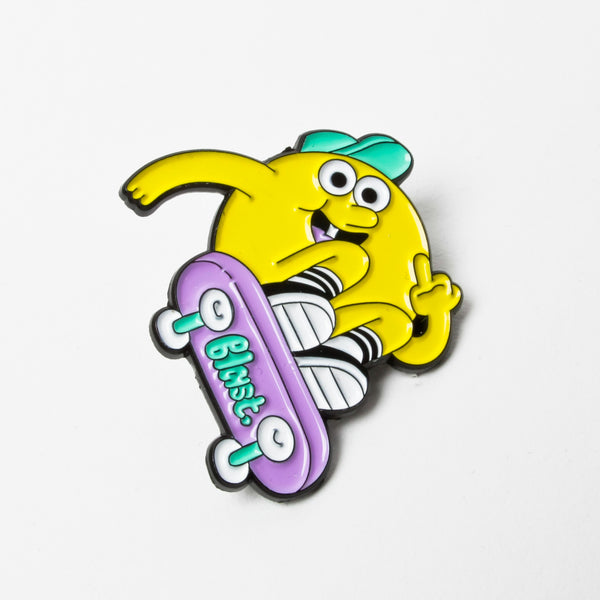 Blast Skates Space Junk Pin Badge