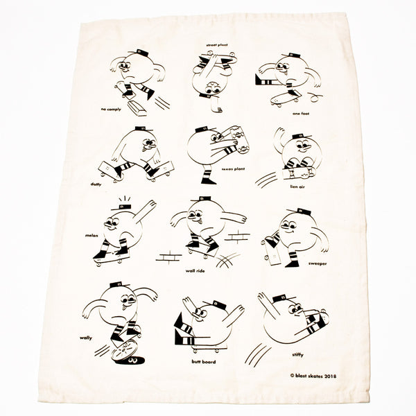 Blast Skates Tea Towel