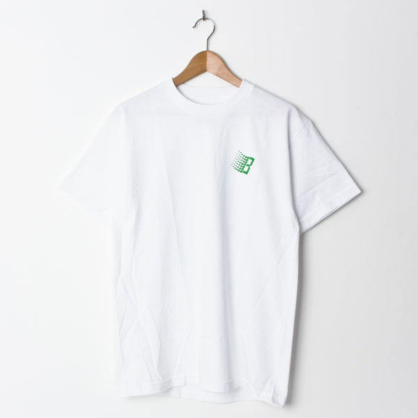 Bronze VX B Logo T Shirt White (Back Print)