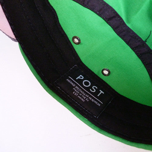 Post Hats & Details Green Team 5 Panel