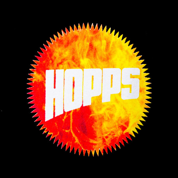 Hopps Sun Logo Black/Fire (Back Print)