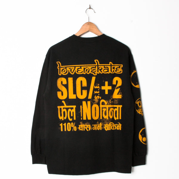 Lovenskate Drink Chai Get Rad Longsleeve Black Embroidered (With Back Print)