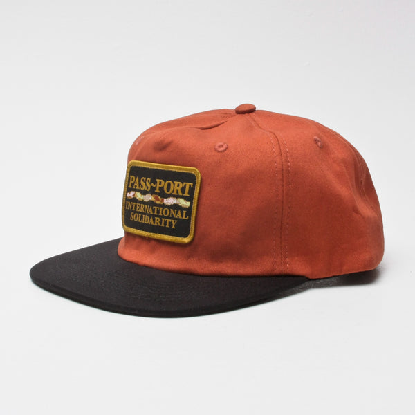 Pass~Port Intersolid Patch 5-Panel Cap Brown/Black