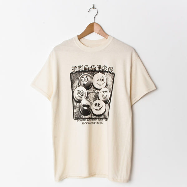 Passion Permit To Bury T Shirt Off White