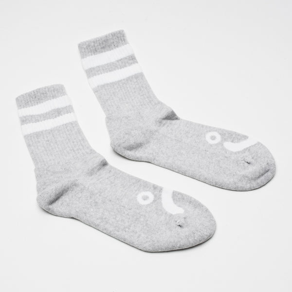 POLAR HAPPY SAD SOCK HEATHER GREY