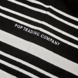 Pop Trading Company Striped Rugby Shirt OFF WHITE/BLACK
