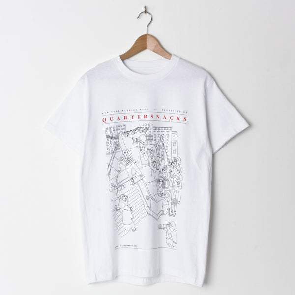 Quartersnacks Presented By T Shirt White
