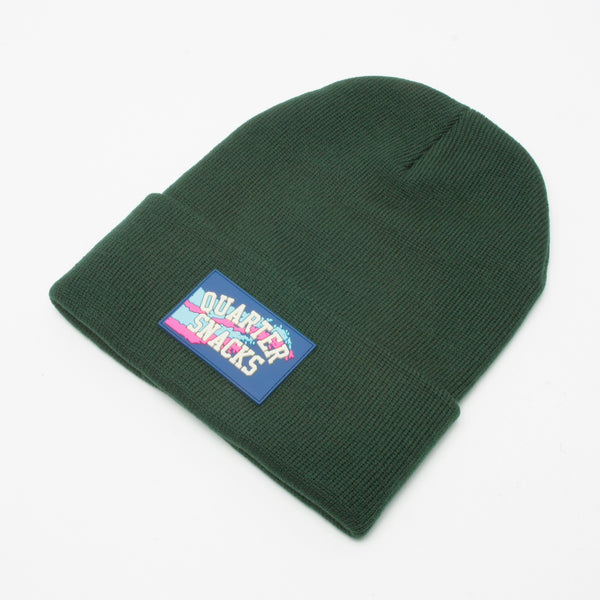 Quartersnacks Rubber Panel Beanie Forest Green