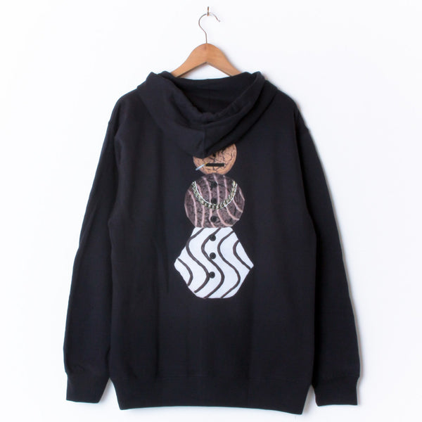 QUARTERSNACKS SNACKMAN ZIPPED HOOD NAVY (BACK PRINT)