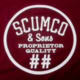 Scumco & Sons Bloody Red Baron T Shirt Burgundy