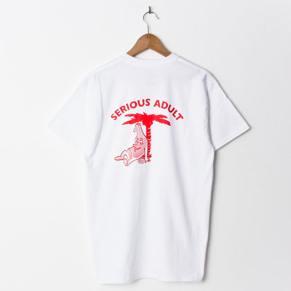 Serious Heatstroke T Shirt White (Back Print)